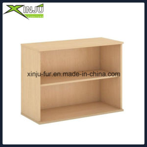 Simple Cute 2 Tier Wooden Bookcase Wide in Black pictures & photos