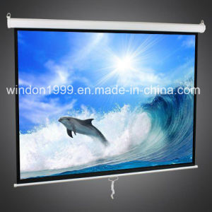 "60""X60"" Manual Wall Projection Screen with Matte White pictures & photos"