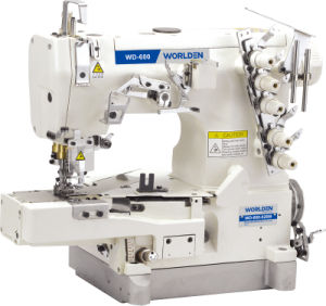 Wd-600-02bb High Speed Cylinder-Bed Interlock Sewing Machine with Tape Bilding (edge rolling) pictures & photos