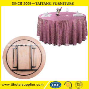 2016 Hot Sale Hotel Banquet PVC Top Folding Dining Table pictures & photos