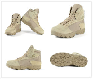 Tan Tactical Military Desert Khaki Hunting Shoes Combat Boots pictures & photos