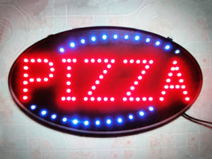 Sparkling Pizza LED Sign
