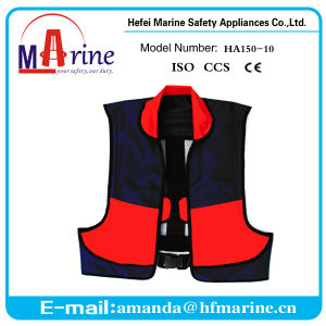 150n Manual Inflatable Life Jacket with Collar pictures & photos
