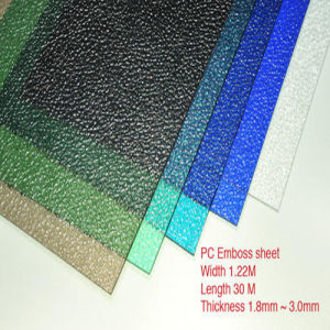 Weather Resistance 4mm Embossed Plastic Roof Panel pictures & photos