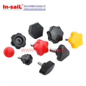 Cabinet Plastic Square Handles with Metal Insert Nut pictures & photos