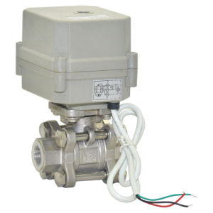 Three Pieces High Pressure Motorized Water Ball Valve pictures & photos