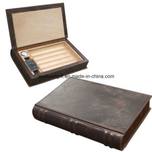 The Novelist Leather Book Travel Cigar Humidor - Color: Brown pictures & photos