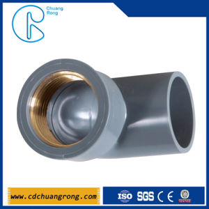 Plastic Fittings PVC 90 Degree Copper Thread Elbow pictures & photos