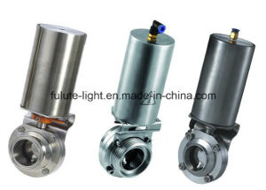 Sanitary Pneumatic Actuated Butterfly Valve pictures & photos