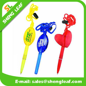 Heart Shape Logo Printed on The Lanyard Ball Pen (SLF-LP005) pictures & photos