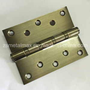Stainless Steel 5 Inch 4 Ball Bearing Wooden Door Hinge (115040) pictures & photos