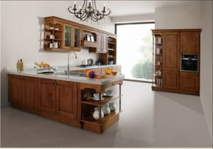 New Arrival Birch Soild Wood Kitchen Cabinet