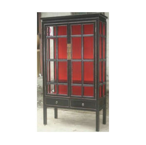 Chinese Antique Furniture Glass Display Cabinet Lwa546 pictures & photos