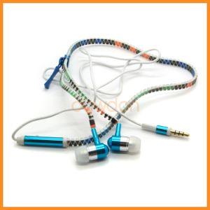 Rainbow Custom LED Light Zipper Earphone for iPhone pictures & photos