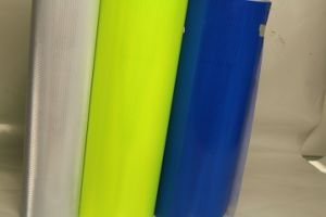 High Visibility Reflective Material Sheet Film for Temporary Road Work Zone Sign pictures & photos