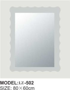 High Quality Wall Mounted Decorative Irregular Corner Bathroom Mirror (LZ-502) pictures & photos