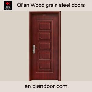 Wood Grain Galvanized Steel Door with Patterns pictures & photos
