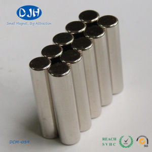 6*25mm Sintered Permanent Cylinder Magnetic Material NdFeB Magnet pictures & photos