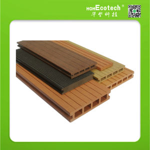 Outdoor Waterproof Wood-Plastic Composite Solid and Hollow Decking Floor pictures & photos