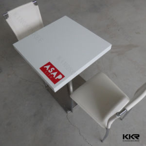 Modern Solid Surface White Table with Ce Approval 062106 pictures & photos