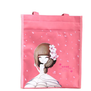 Pink Beautiful Girl Style Document Tote Bag
