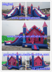 Pink Bouncer Combo Inflatable Princess Bouncy Castle with Slide (RA-013) pictures & photos