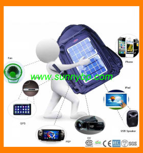 Travelling Solar Back Bag for Mobile Phone Charger pictures & photos