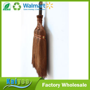 Garden Long Wood Handle Bamboo Brooms Factory in China pictures & photos