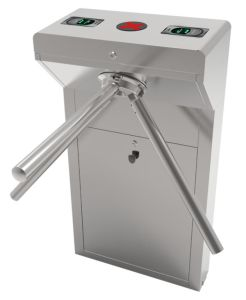 Vertical Tripod Turnstiles System with Control Panel and Fingerprint + RFID Reader, Power Supply (TS-300) pictures & photos