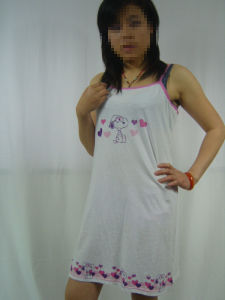 Sexy Printed Cotton Women′s Sleepwear pictures & photos