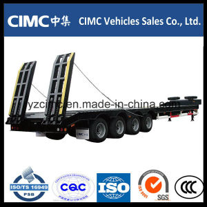 Cimc 4 Axles 70 Ton Low Bed Trailer pictures & photos