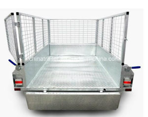 Fully Welded Hot DIP Galvanized 7X4 Box Trailer with Cage pictures & photos