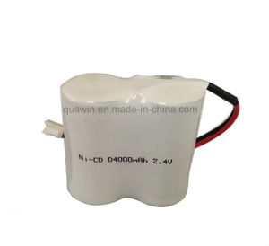 2.4V 4000mAh D Size NiCd Rechargeable Battery pictures & photos
