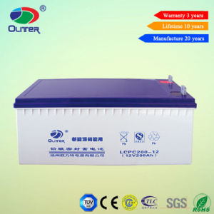 12V 200ah Rechargeable Solar Power Battery for Solar System