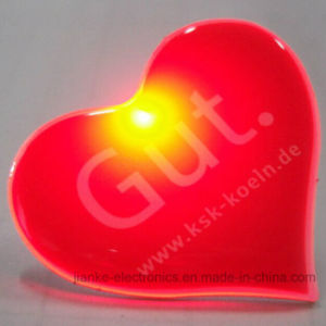 Heart LED Flashing Magnet with Customized Design (3161) pictures & photos