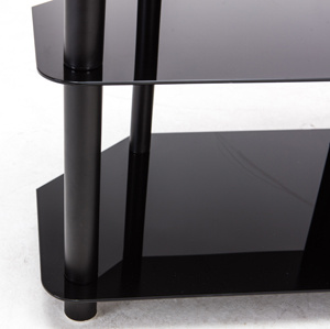 Three Tier Glass TV Stand with Bracket pictures & photos