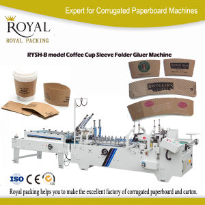 Rysh-B Model Coffee Cup Sleeve Folder Gluer Machine pictures & photos