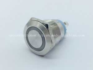 19mm Short Distance Screw Pin Ring Momentary Stainless Switch pictures & photos
