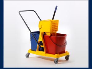 2-Bucket Wringer Trolley for Cleaning Mop (YG-073) pictures & photos
