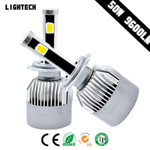 LED Angel Eye H4 4side COB Super Brighting Car Headlight pictures & photos