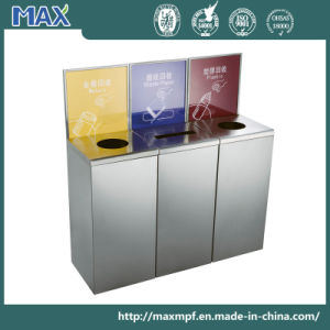 Square Stainless Steel Garbage Storage Banner Recycle Waste Bin pictures & photos