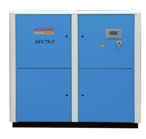 75kw/100HP August Variable Frequency Screw Air Compressor pictures & photos
