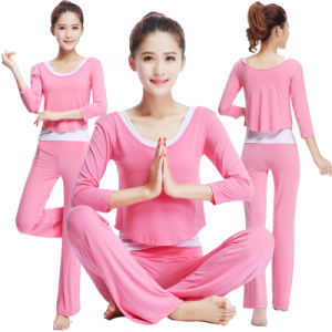 Women′s Yoga Suit Three Sets of Dance Suit Design pictures & photos