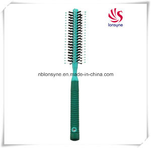 Round Hairbrush with Nylon Pins