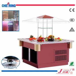 Luxury Buffet Square Refrigerated Salad Showcake Bar pictures & photos