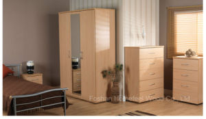 Simple Design Mirror Wardrobe Chest Bedroom Set (HF-SJ002) pictures & photos