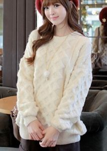 Women Long Sections Loose Big Yards Thick Sweater Twist Hedging Sweater Coat (BTQ074) pictures & photos