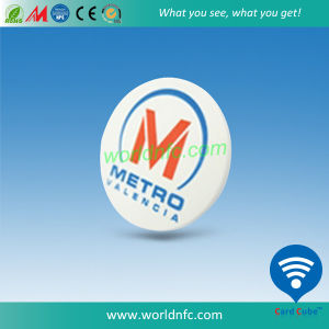ABS Round 30mm RFID Mf S50 Metro Ticket pictures & photos