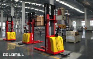 1.6~5.3m Electric Stacker with CE pictures & photos