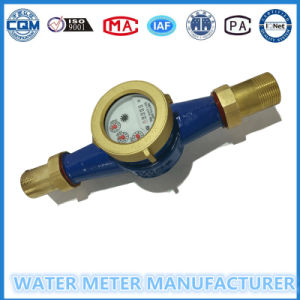 Cast Material Water Flow Meter Dry Type for Cold Water Dn15 pictures & photos
